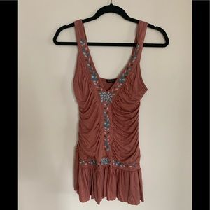 Brown Forever 21 Tank Top